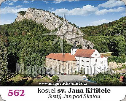 Magnetka - Kostel sv. Jana Křtitele (Svatý Jan pod Skalou)