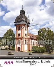Magnetky: kostel Narození sv. Jana Křtitele (Valeč)
